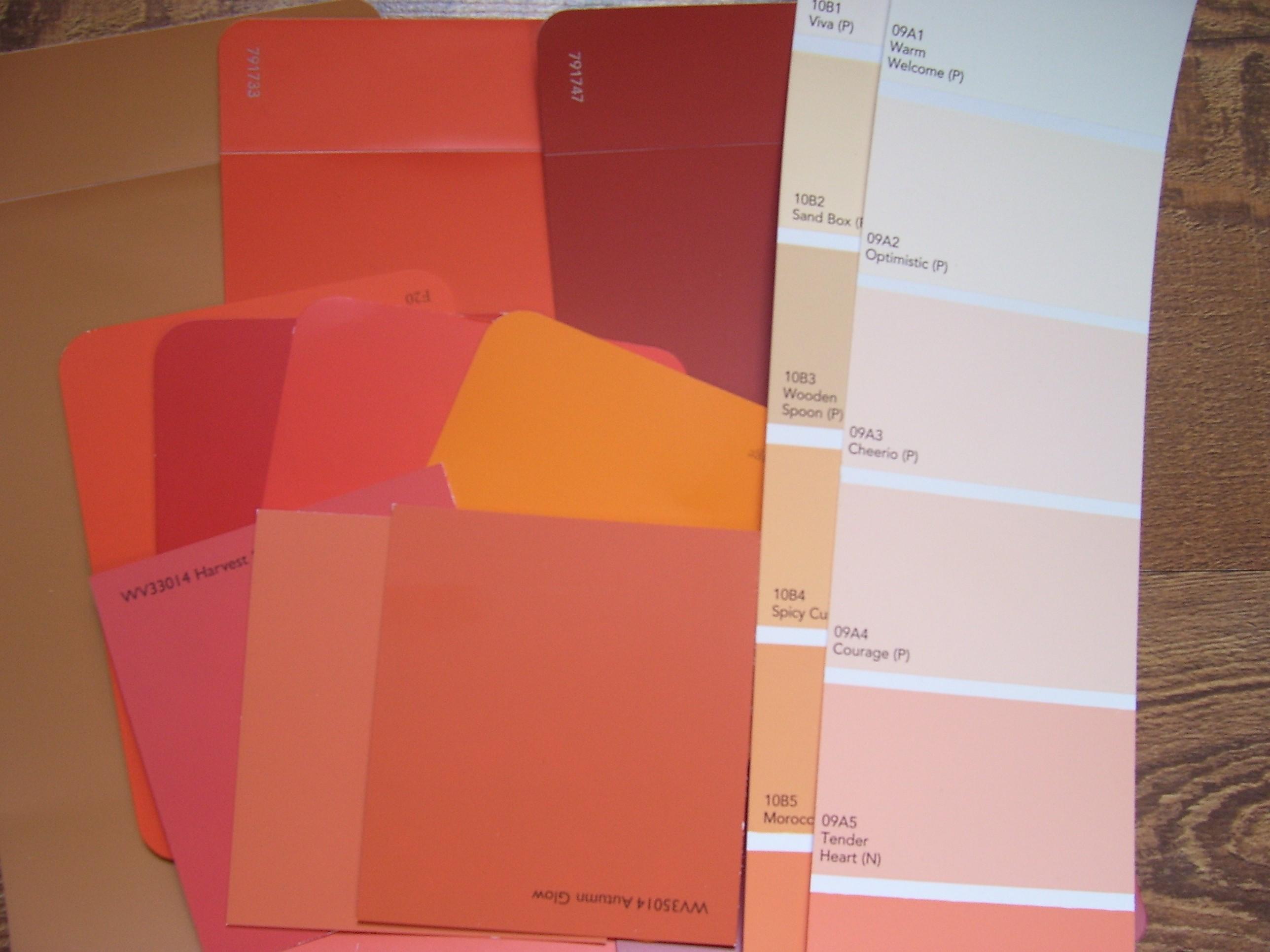 Shades Of Orange Names shades of orange fall sampler – quiver full of blessings
