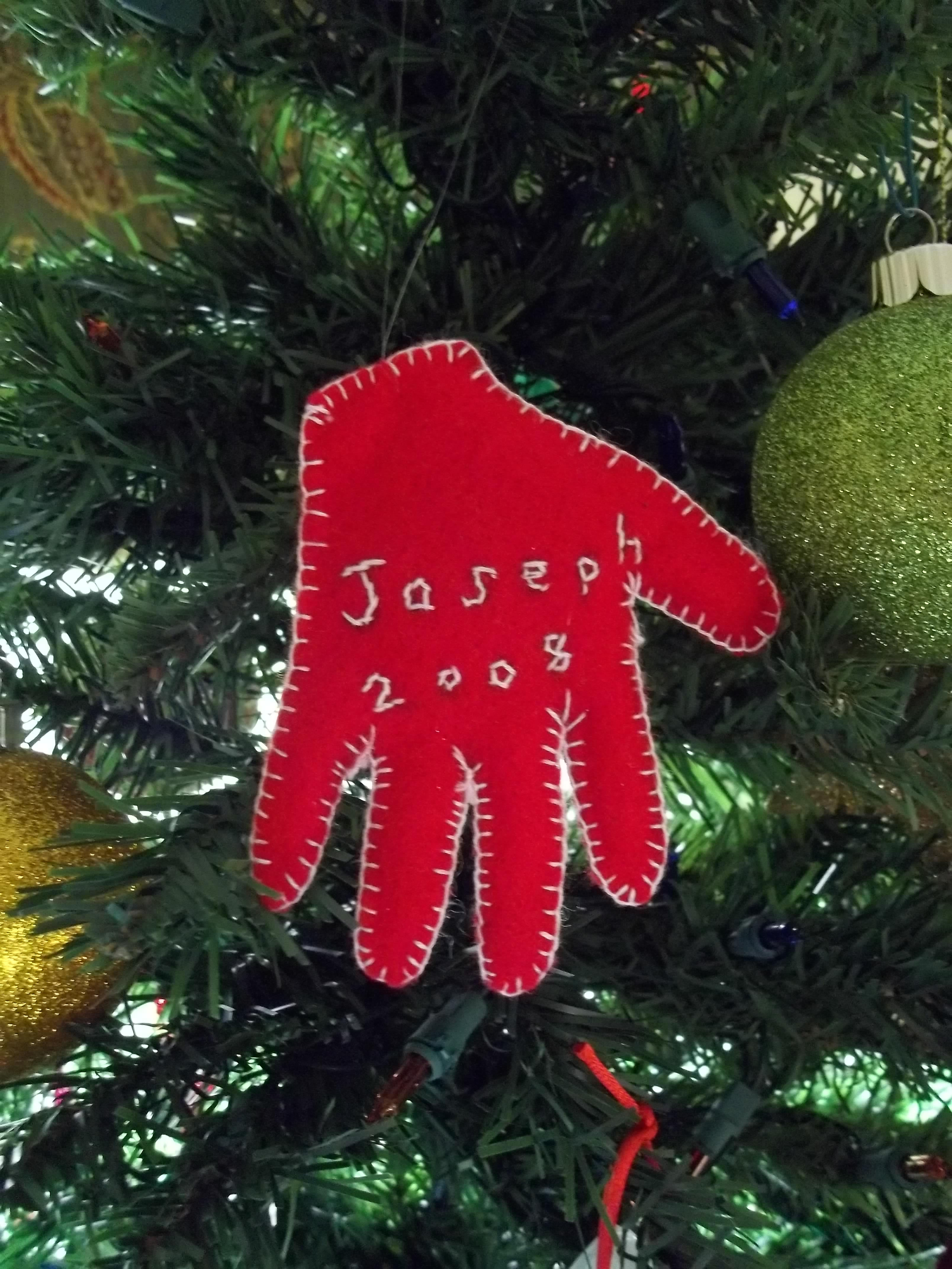 Babys First Christmas Handprint Ornament  Quiver Full of Blessings
