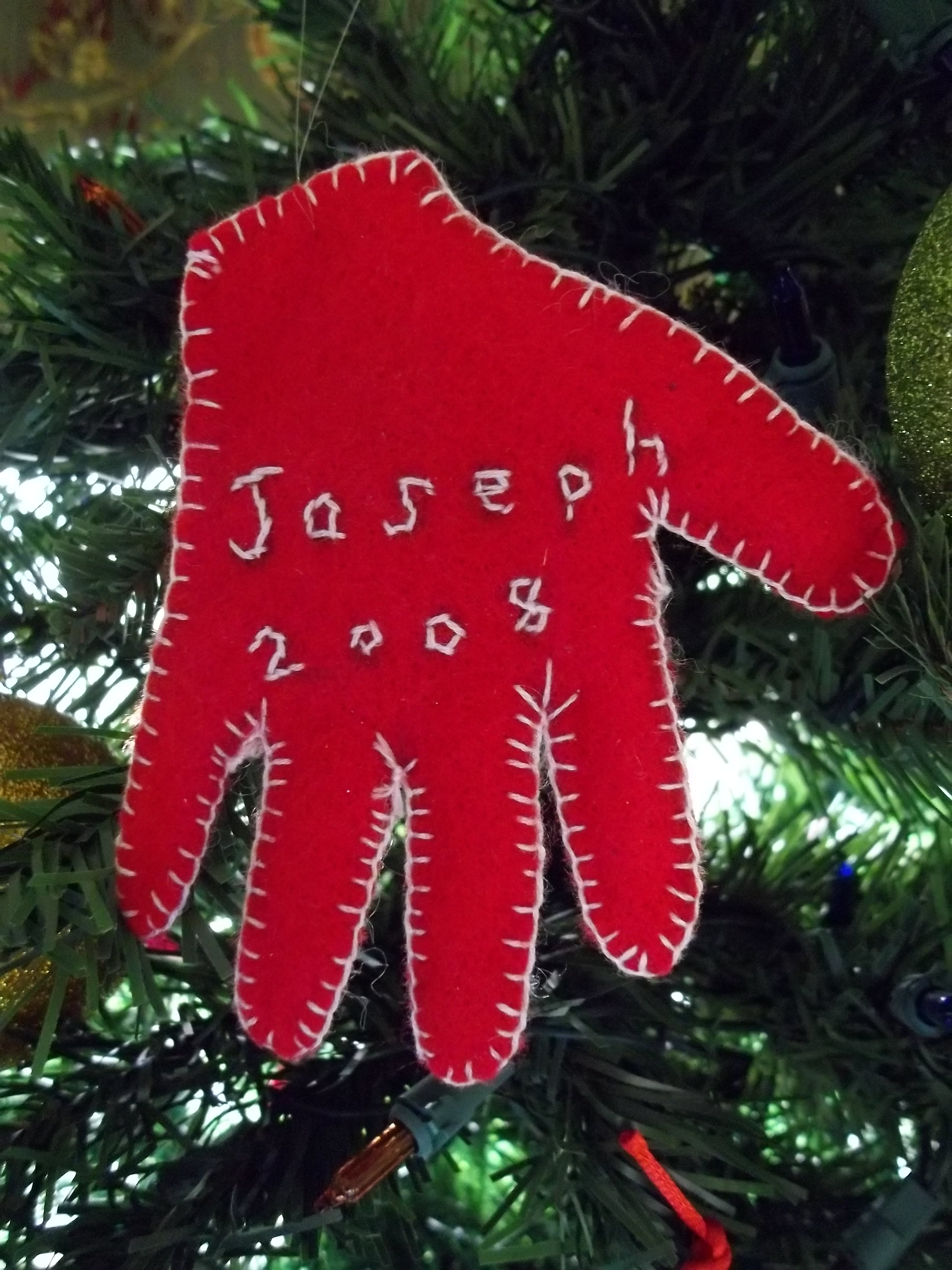 Babys first christmas handprint ornament quiver full of blessings this particular solutioingenieria Images