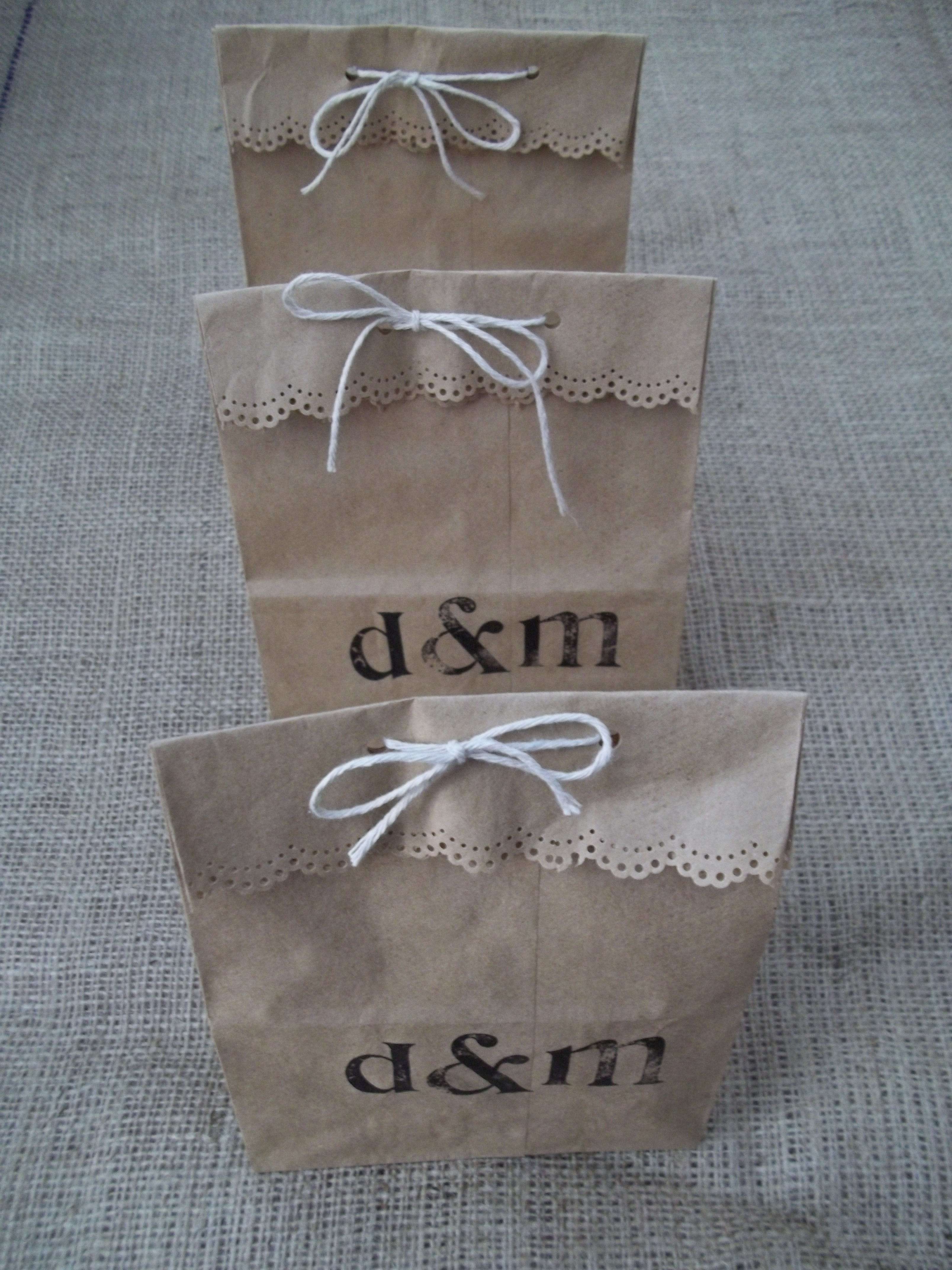 Paper Bag Wedding Favors Quiver Full of Blessings