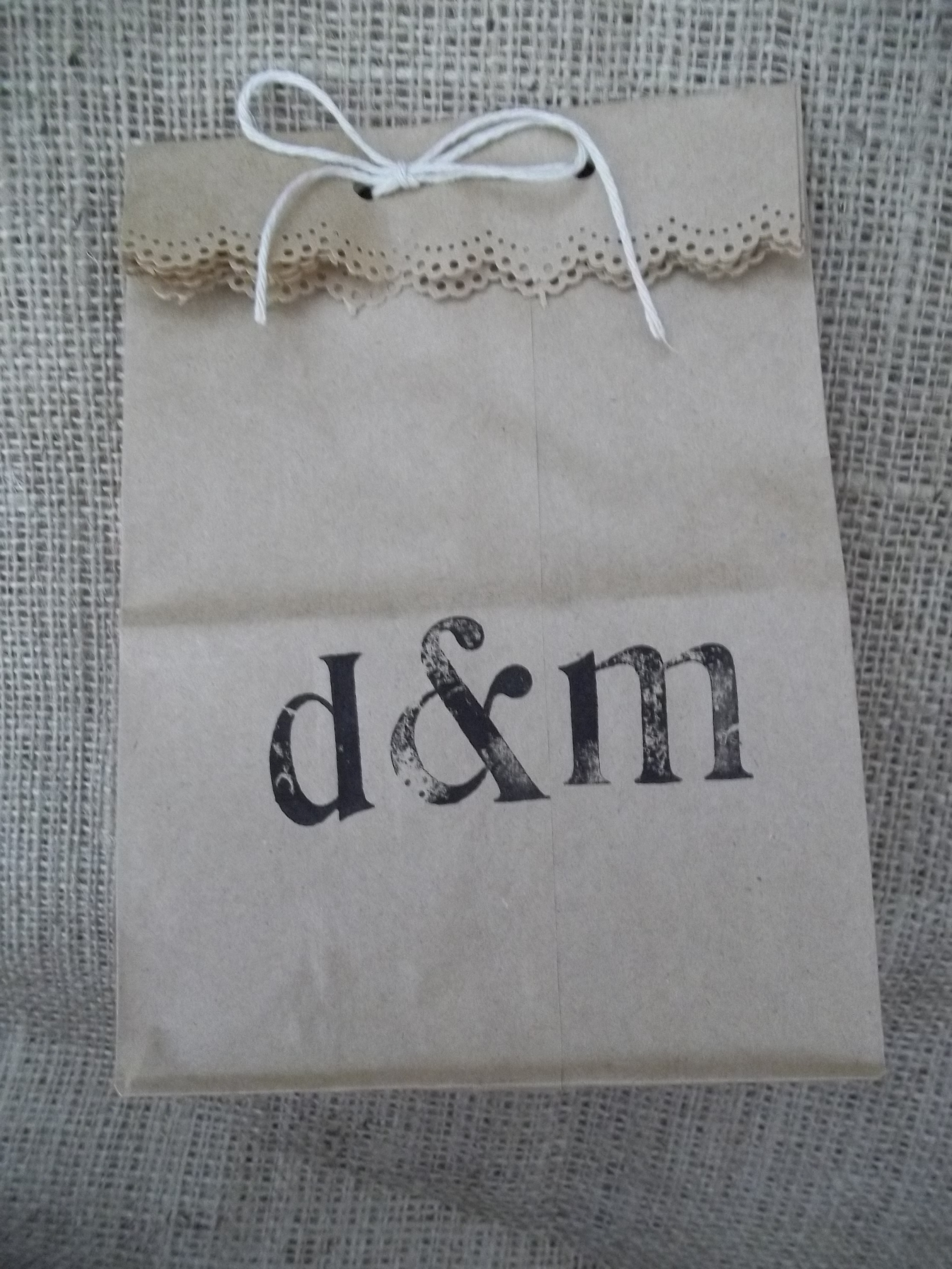 Personalised Wedding Favour Paper Bags : Paper Bag Wedding Favors Quiver Full of Blessings