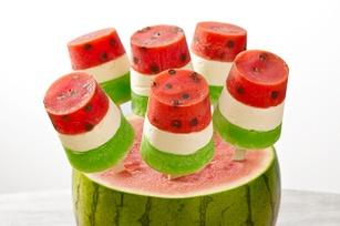 rainbow fruit pops fruit salad ice pops popsicles fruit salad pops