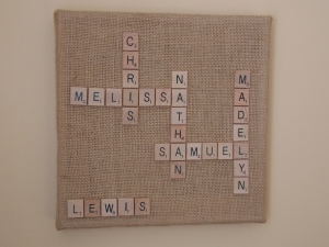 scrabble board, music ornament 008