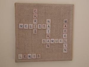 scrabble board, music ornament 008