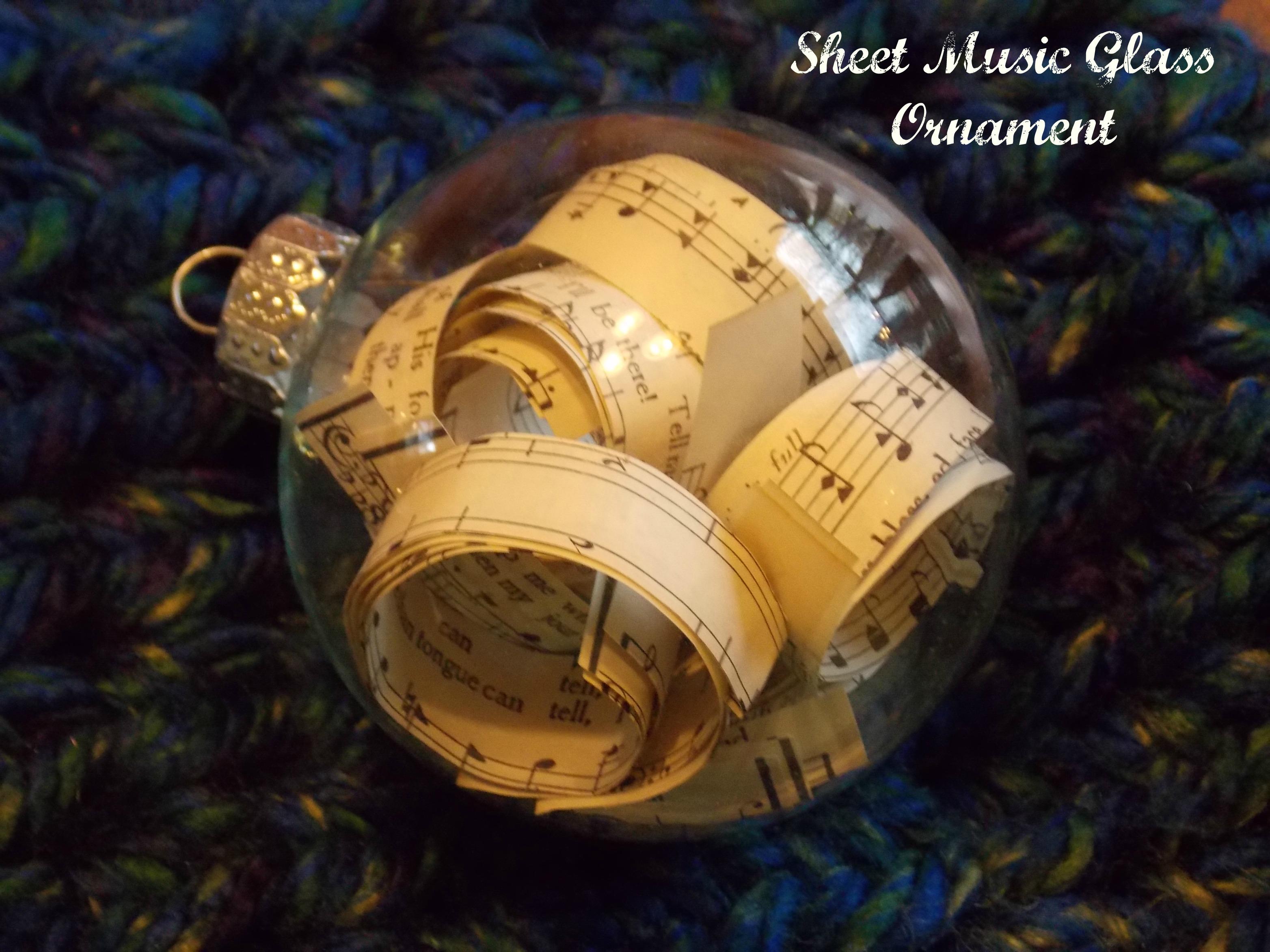 Christmas music ornaments - Scrabble Board Music Ornament 014