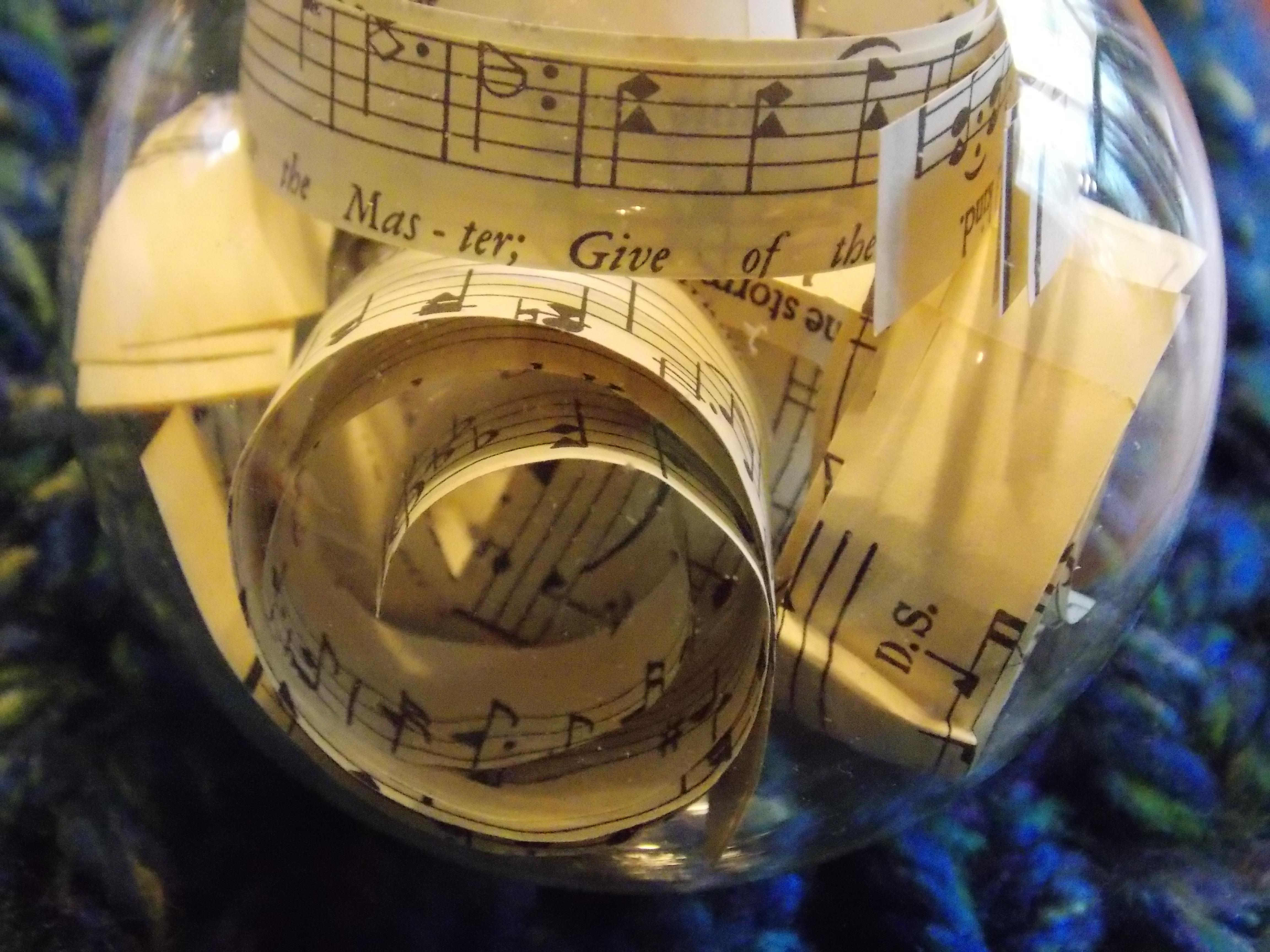Christmas music ornaments - Scrabble Board Music Ornament 024
