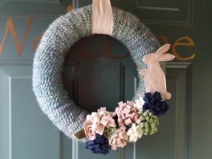 easter wreath, chocolate nobake bars 013