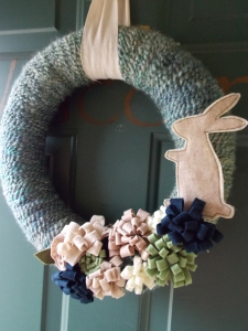 easter wreath, chocolate nobake bars 015