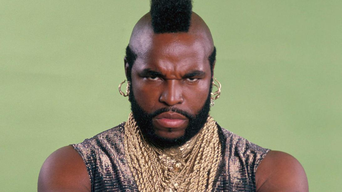 "THE A-TEAM -- Pictured: Mr. T as Sgt. Bosco ""B.A."" Baracus -- Photo by: Herb Ball/NBCU Photo Bank"
